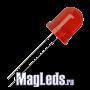 Светодиоды 10мм 12V DFL-10AR4SD-12 красные матовые