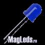 Светодиоды 10мм 12V DFL- 10AB4SD-12 синие матовые