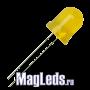 Светодиоды 10мм 12V DFL- 10AY4SD-12 желтые матовые