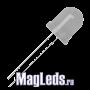 Светодиоды 10мм 12V DFL- 10AW4SD-12 белые холодные матовые