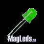 Светодиоды 12 вольт зелёные 8мм